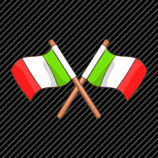banner, cartoon, country, europe, flag, italian, italy icon