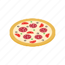 dinner, fast, food, isometric, lunch, pizza, slice