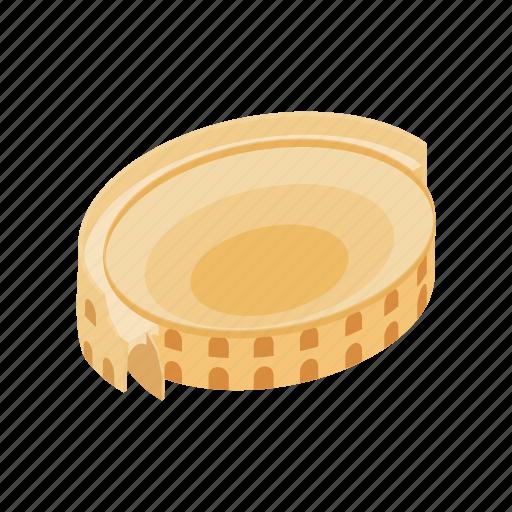 architecture, arena, building, coliseum, isometic, roman, stadium icon