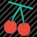 cherries, food, fresh, fruit, healthy, vegetable icon