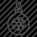 toy, holiday, ball, glass, fir, tree, snowflake