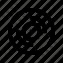 disk, jamaica, vinyl icon