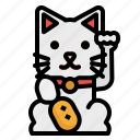 cat, cultures, japan, maneki, neko icon