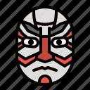 drama, japan, kabuki, mask, theater icon