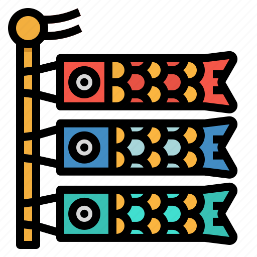 Cultures, fish, japan, koinobori, wind icon - Download on Iconfinder