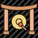 gong, japan, japanese, instruments