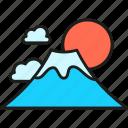 fuji, mountain, japan, japanese