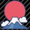 japan, landscape, fuji, mountain