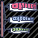 carp, fish, flag, japan, japanese, koi, wind icon