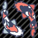 carp, fish, japan, koi, nature, water icon