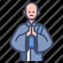 asia, buddhist, japan, monk, religion, traditional, zen icon