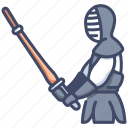 japan, japanese, kendo, martial, sport, sword, training icon
