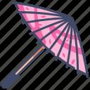 japan, japanese, paper, parasol, traditional, umbrella, wagasa icon