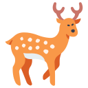 wildlife, animal, deer, antler, forest, nature, wild icon