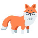 animal, cute, fox, nature, tail, wild, wildlife icon