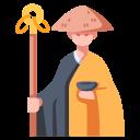 asia, buddhist, japanese, monk, religion, traditional, zen icon