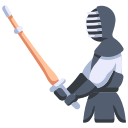 fighter, japan, kendo, martial, sport, sword, training icon
