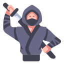 asian, japan, japanese, katana, ninja, sword, warrior icon
