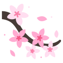 cherry, blossom, flower, japanese, spring, floral, sakura icon