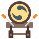 multimedia, traditional, percussion, music, instrument, and, taiko icon
