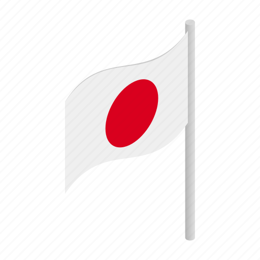 country, flag, isometric, japan, japanese, nation, vectior icon
