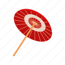 asian, culture, isometric, japan, japanese, paper, umbrella icon