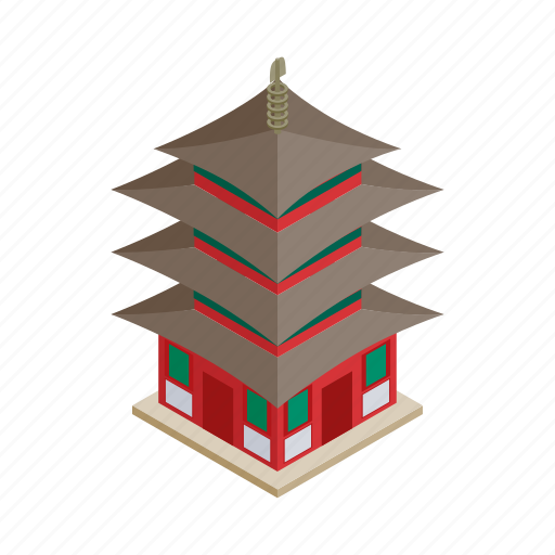 Asia, asian, isometric, japan, japanese, religion, temple icon - Download on Iconfinder