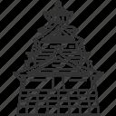 castle, osaka, japan, landmark, oriental