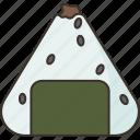 onigiri, rice, japanese, food, meal