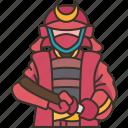 samurai, warrior, armor, fighting, japan