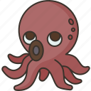 squid, octopus, seafood, marine, animal