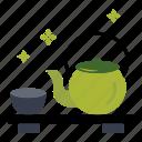 cup, green tea, tea, japanese, matcha tea, traditional, kettle icon