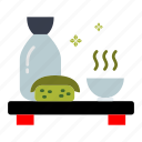 cup, meal, green tea, tea, hot, japanese, sushi icon
