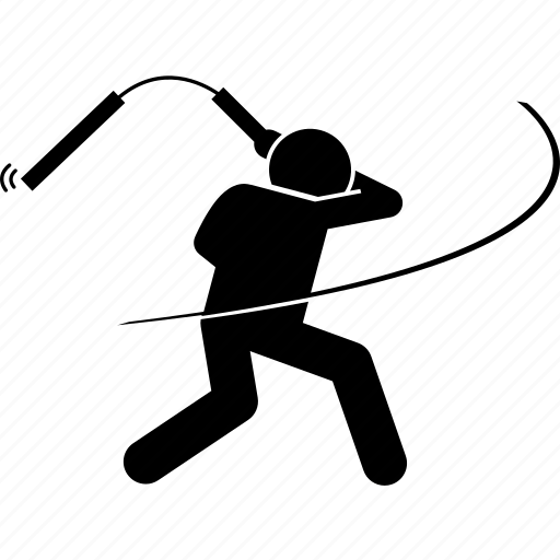 attack, nunchaku, nunchucks, swing, weapon icon