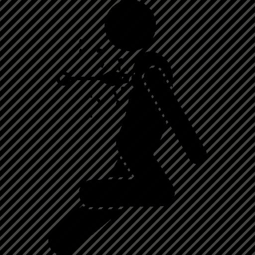 back, hit, killed, killing, knife, kunai, stab icon