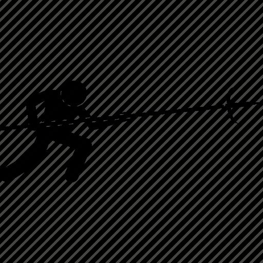 japanese, jumonji, magari yari, spear, trident, weapon icon