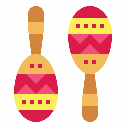 maraca, mexican, music, shaker icon