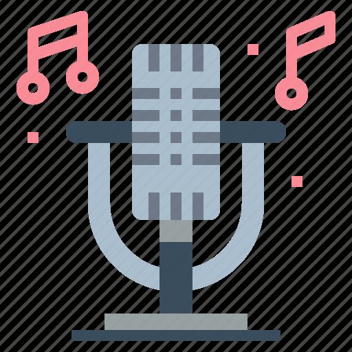 microphone, radio, sound, vintage icon