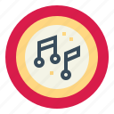music, note, player, song icon