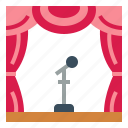 curtains, show, stage, theater icon