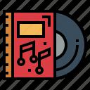 album, dvd, music, record icon