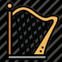 harp, instrument, music, orchestra, string icon