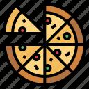 fast, food, italian, pizza