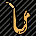instrument, jazz, music, saxophone, wind icon