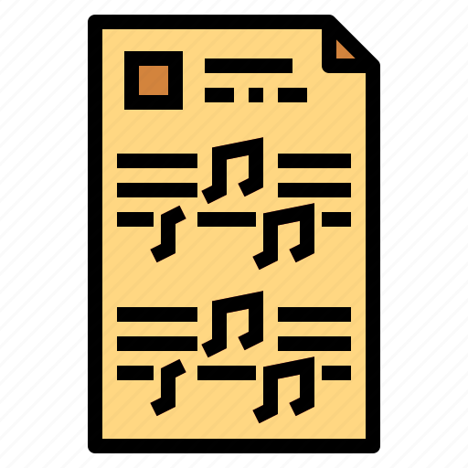 music, note, paper, sheet icon