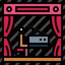 music, piano, show, theater icon