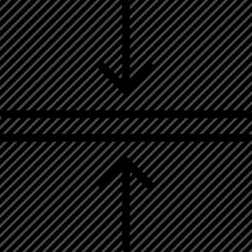 arrow, compress, direction, horizontal, indicator, orientation, tighten icon