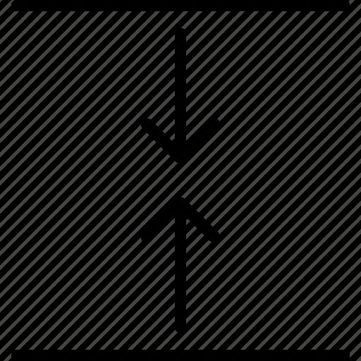 arrow, compress, direction, indicator, orientation, tighten, vertical icon