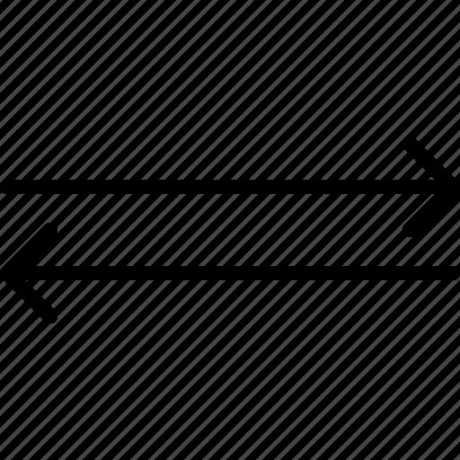 arrow, both, direction, horizontal, indicator, orientation, ways icon