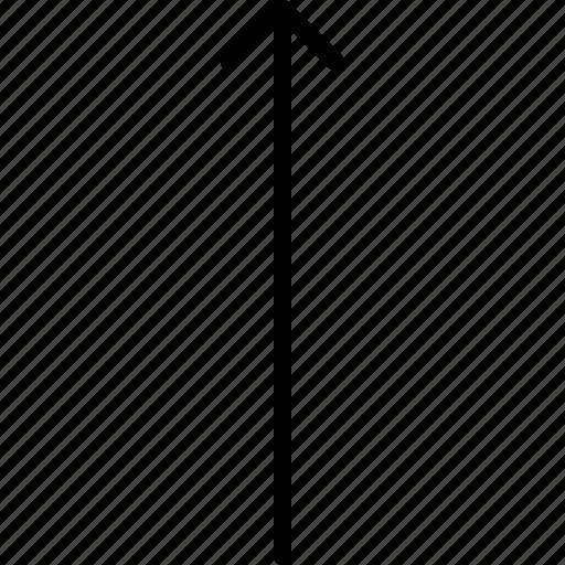 arrow, direction, indicator, orientation, up icon